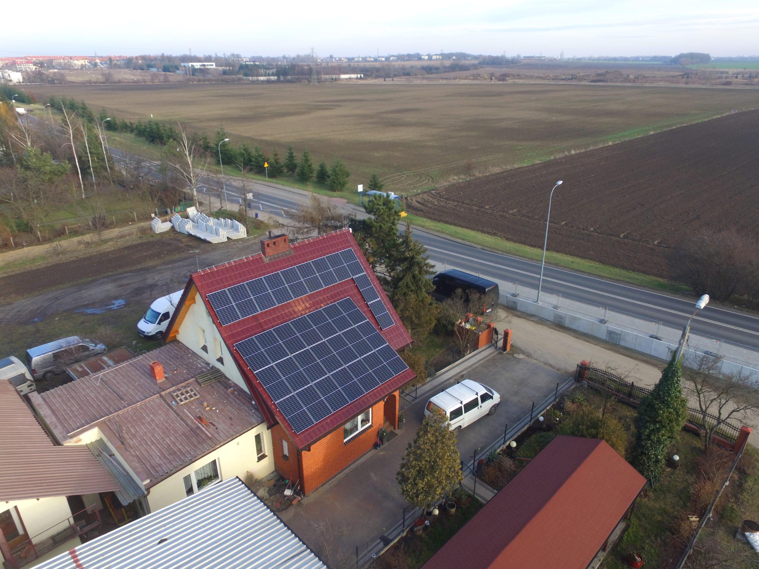 Instalacja fotowoltaiczna o mocy 10 kWp na budynku mieszkalnym, Ślęza