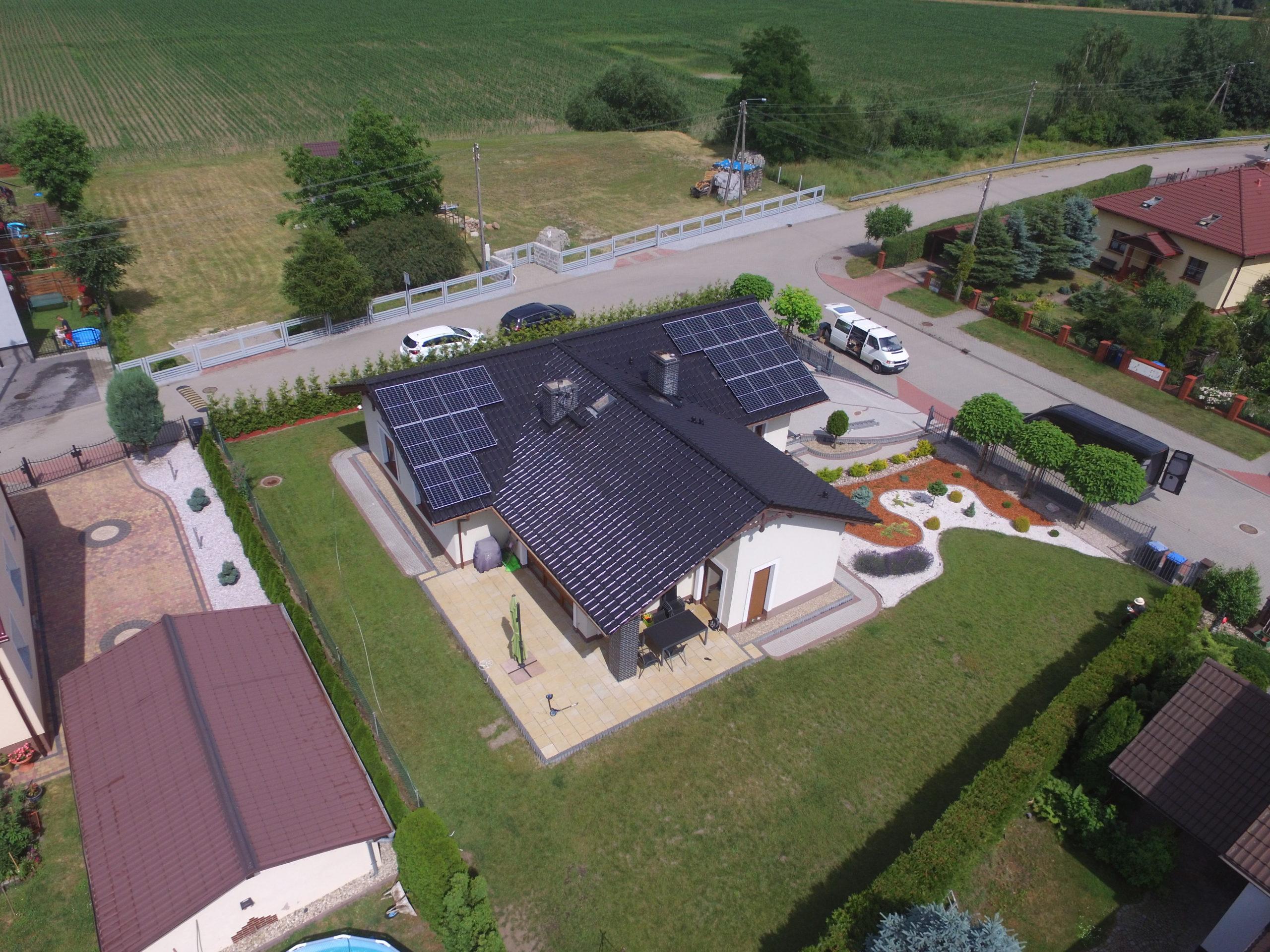 Instalacja fotowoltaiczna o mocy 8 kWp na domu jednorodzinnym, Oława