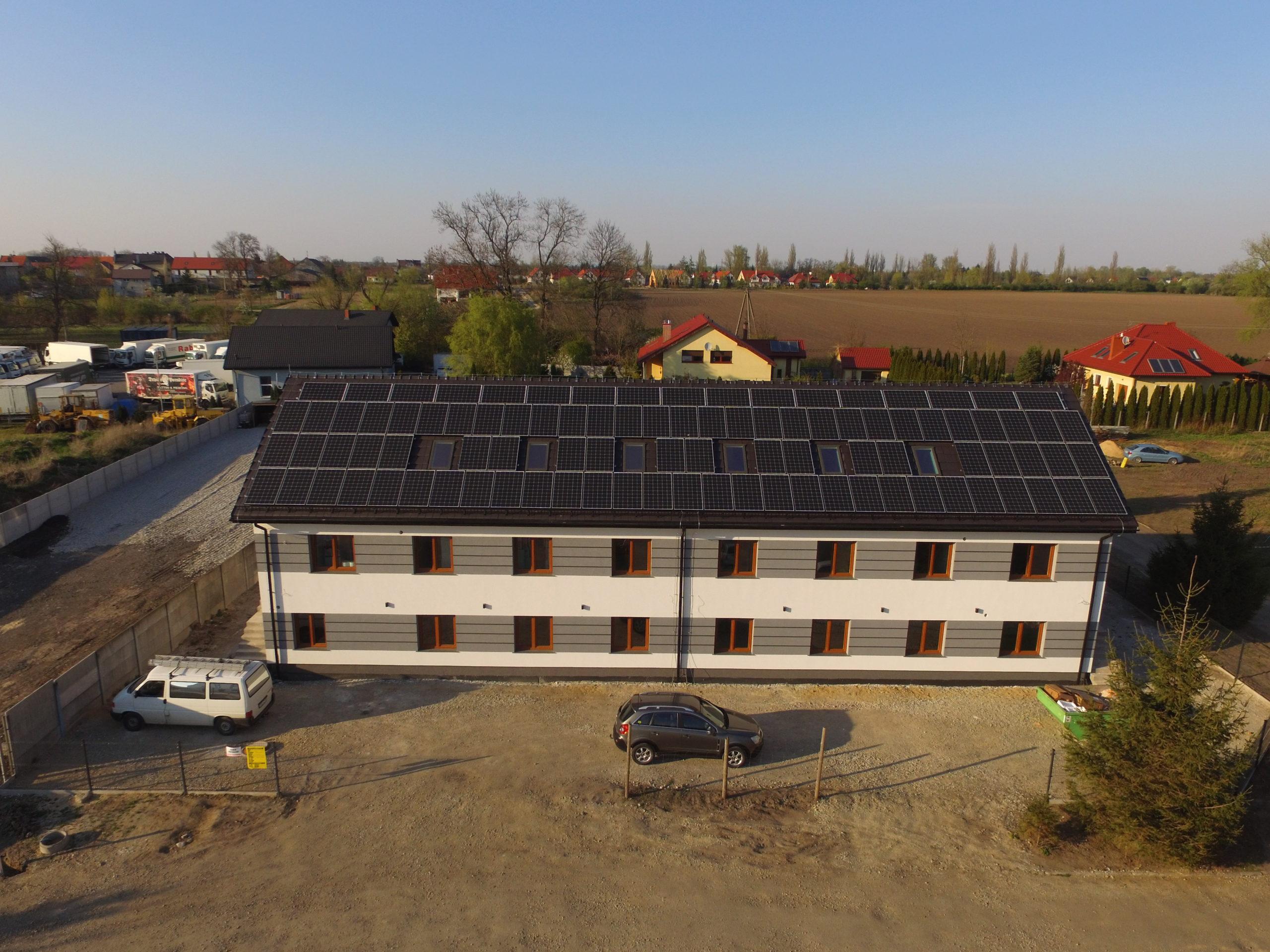 Instalacja fotowoltaiczna o mocy 30 kWp na hotelu, Pietrzykowice