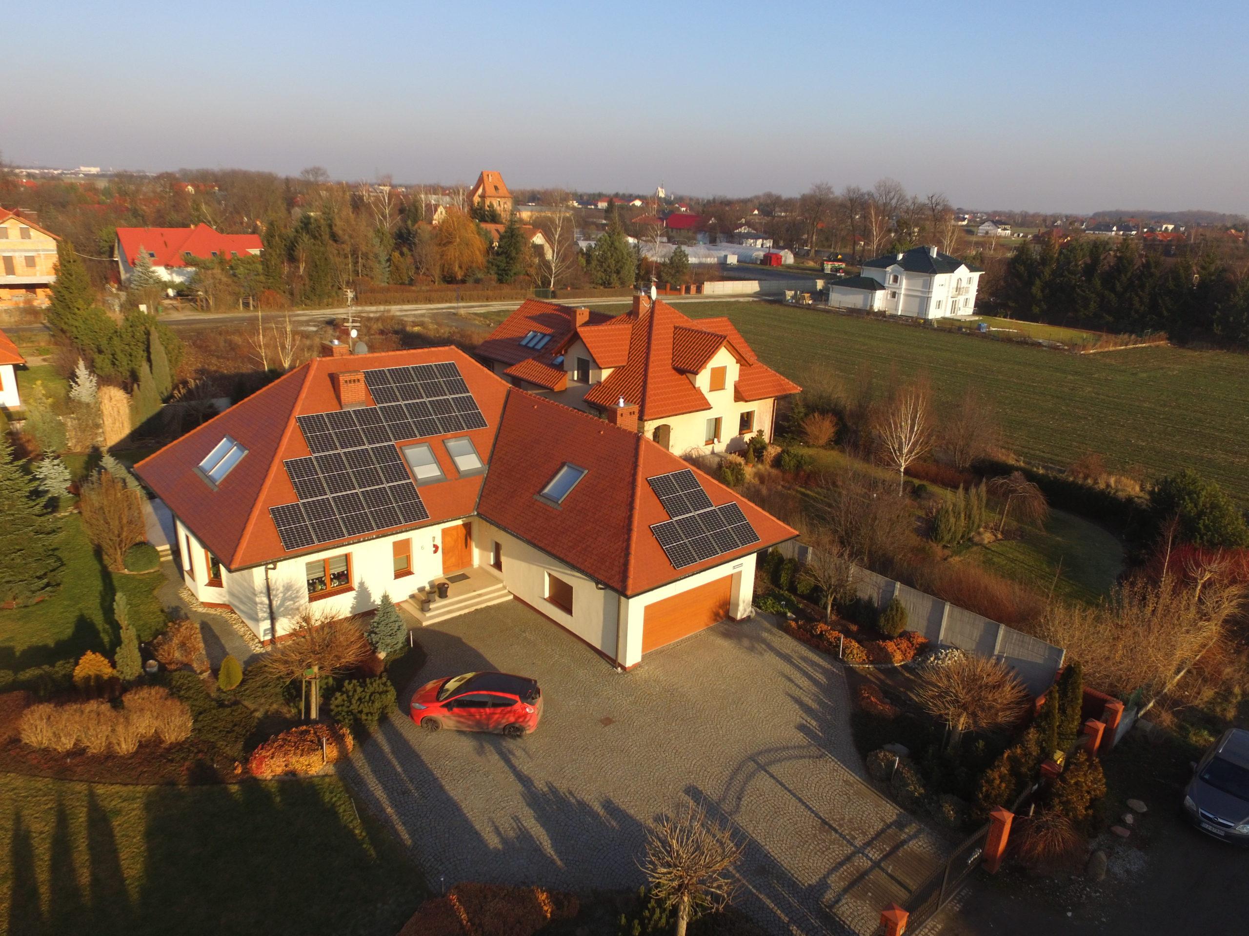 Instalacja fotowoltaiczna o mocy 8 kWp na budynku mieszkalnym, Biestrzyków
