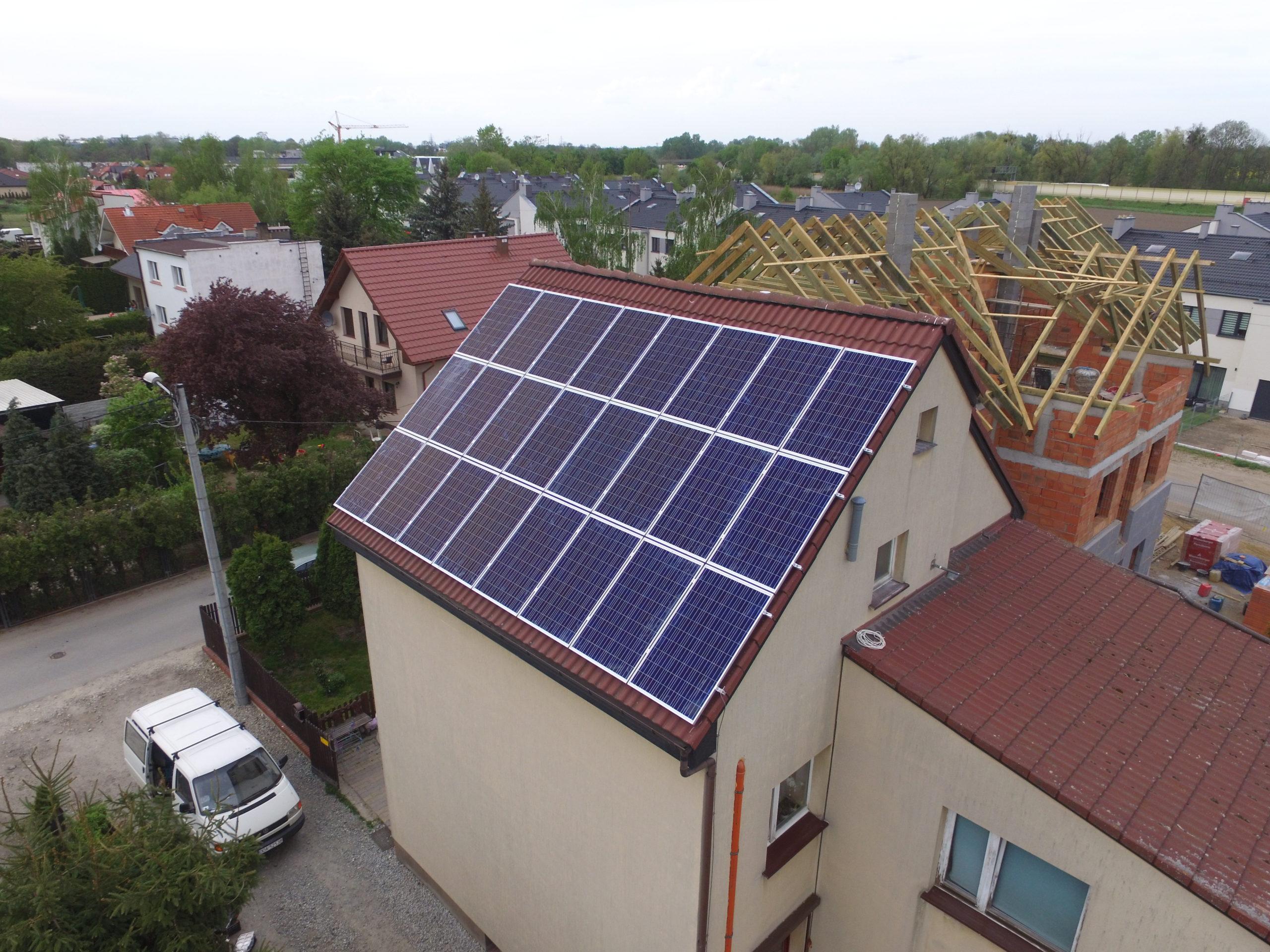 Instalacja fotowoltaiczna o mocy 6 kWp na budynku mieszkalnym, Ślęza