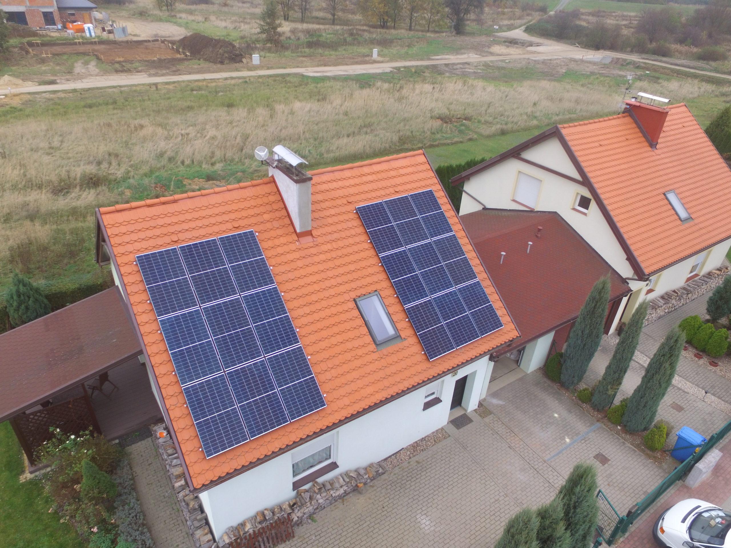 Instalacja fotowoltaiczna o mocy 6 kWp na budynku mieszkalnym, Siechnice